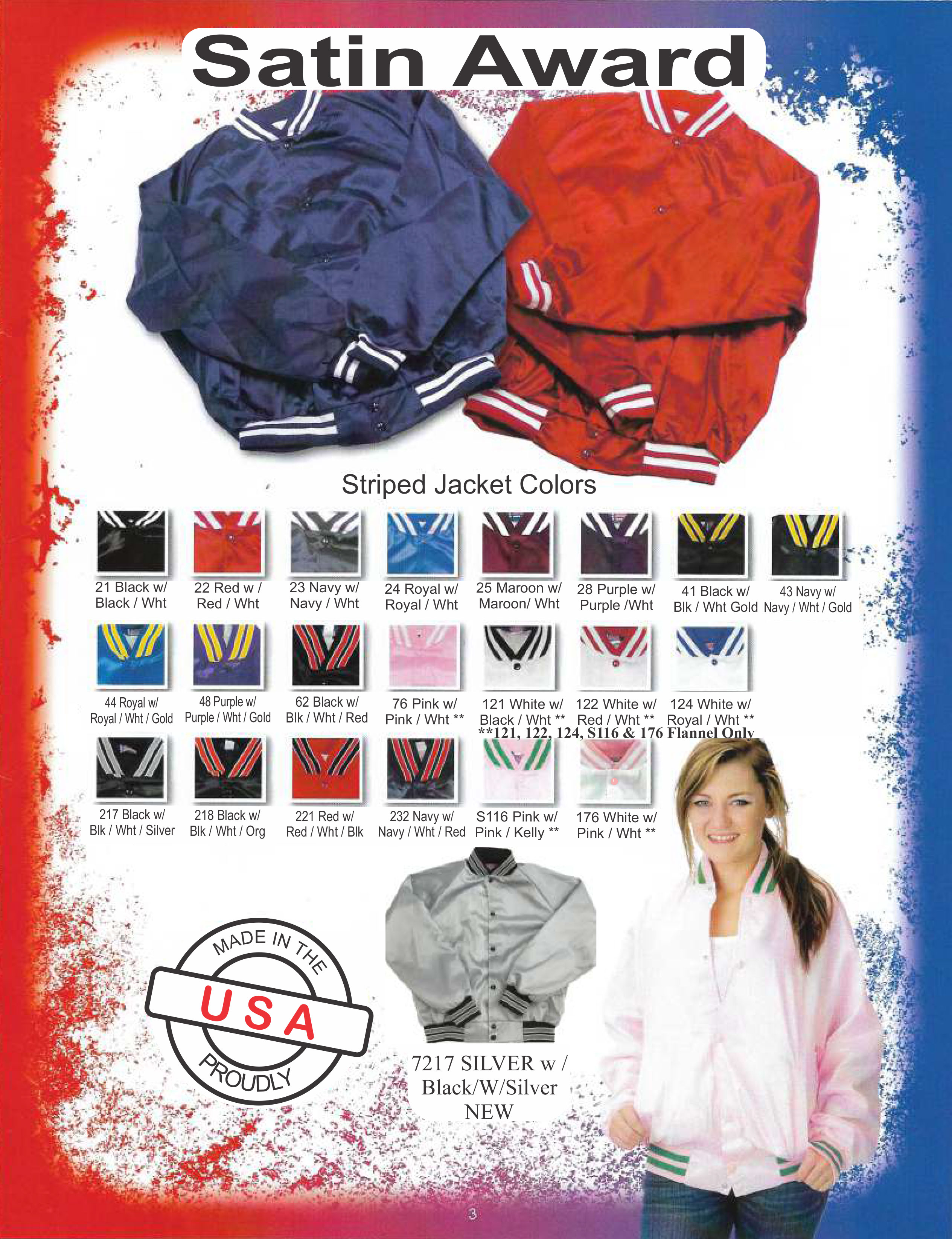 Satin Award Jacket Colors