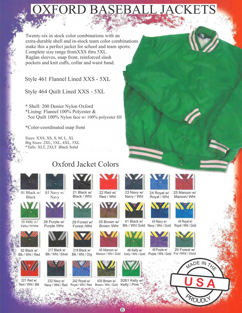 Oxford Baseball Jacket Page One